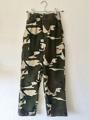 Vintage Kids 90s Camo Army Utility Scouts Military Khaki Pants Trousers 8 9 10 Y