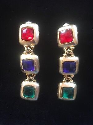 Vintage 80's Clip On Earrings