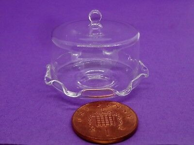 1:12 Scale Glass Cake Stand Cover Dolls House Miniature Food Accessory Go21M
