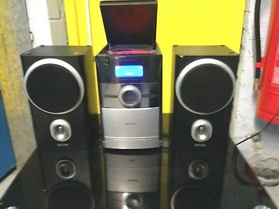 Philips Micro System Model Mcb-146-05 Two Speaker Colour Silver And Black Used