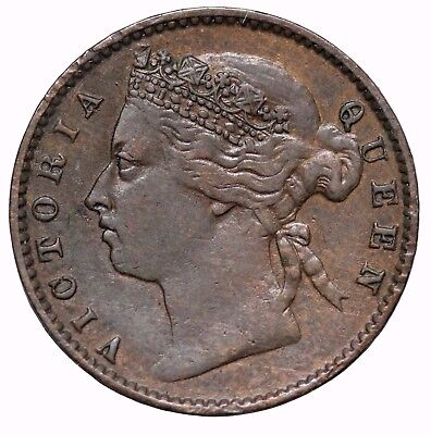 1884 British Straits Settlements 1/4 Cent Queen Victoria KM#7a