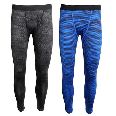 Men's Leg Compression Tights Skins Long Pants Gym Yoga Bodybuilding Trousers