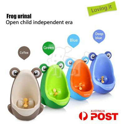 Cute Boy Baby Child Cartoon Animal Frog Shape PP Standing Urinal Toiletl AU!!Y