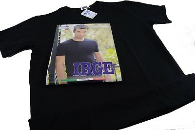 3 Knitted Underwear Man T-Shirt Two-Way Stretch Cotton Irge Black Crew-Neck
