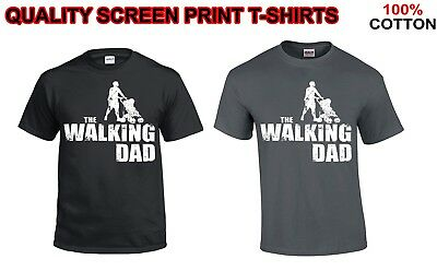 The Walking Dad Parody Father Son Fathers Day Men's Funny Gift Xmas T-Shirt Top