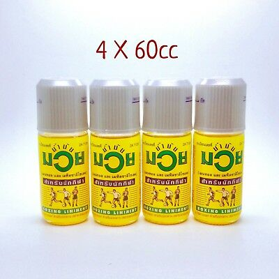 4 of 60cc Namman Muay Oil Thai Boxing Oil Liniment Muscular Pain Relief