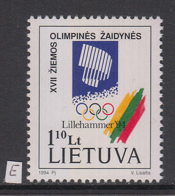 XG-AG765 LITHUANIA - Olympic Games, 1994 Winter, Norway Lillehammer MNH Set