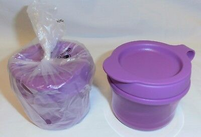 BNIP TUPPERWARE Grow WITH ME SNACK CUPS set of 2 (PURPLE COLOUR ONLY)