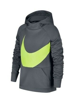 Nike Boys Therma Dri Fit Training Hoodie Cool Gray Size Large NWT