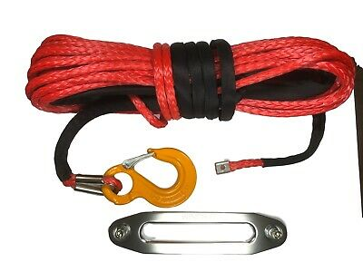 100 ft 10mm Synthetic Winch Rope & Hawse UHMwPE Suits self recovery 4x4