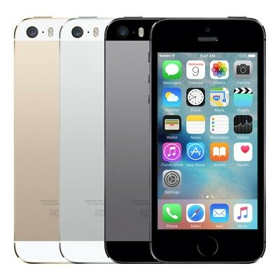 Apple iPhone 5S 16GB (Factory Unlocked)  Grey Gold Silver Smartphone ABC