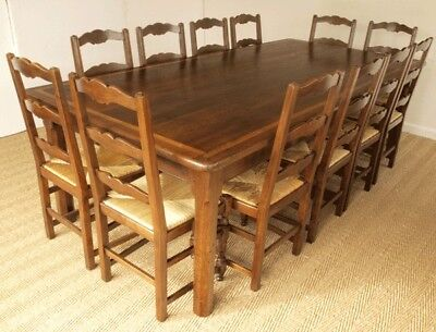 Superb Wide Antique French Oak Tailors Table / Dining Table (Table only)