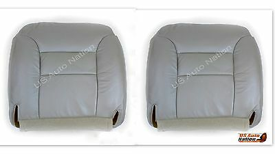 1995 To1999 Chevy Suburban Tahoe Driver Passenger Bottom Vinyl Seat Cover Gray