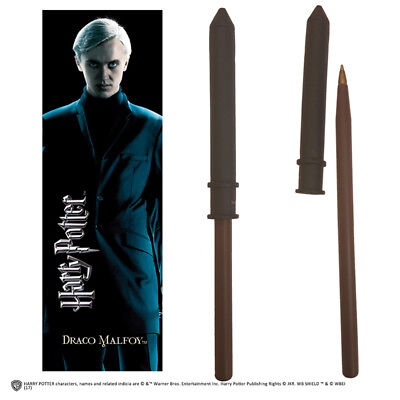 Noble Collections Harry Potter Draco Malfoy Wand Pen And Bookmark Penna