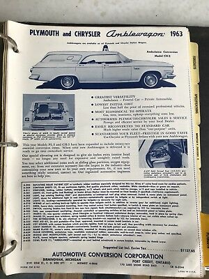 Vtg Dealer Order Book, Chrysler Plymouth , Amblewagon, + Much More