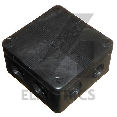 IP66 Black Weatherproof Outdoor  External Junction Box Complete With Connector