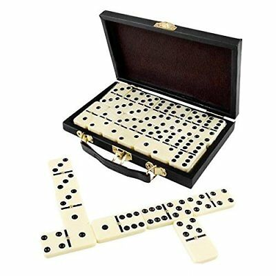Domino Set Premium Classic 28 Pieces Double Six In Brown Box Party Favors Game