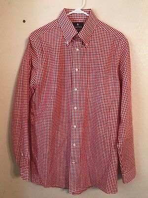 Reasonable Tailorbyrd Mens Multi Red Plaid 100% Cotton Ls Button Dress Shirt Nwt L $98 Men's Clothing