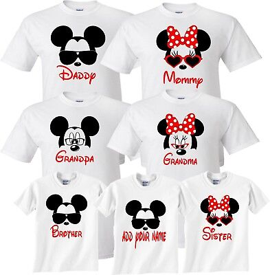 Mom And Dad And Family Vacation 2018 Mickey Minnie Disney TRIP T-Shirts