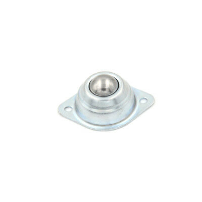 Swivel Round Ball Caster Silver Metal Bull Wheel Universal Transfer Ball Hole YJ