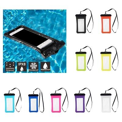 Universal Waterproof Air Bag Floating Phone Case Dry Pouch Bag with Lanyard