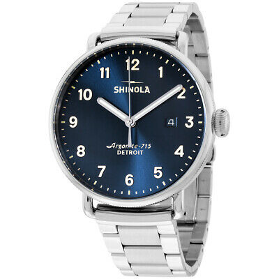 Shinola The Canfield Blue Dial Stainless Steel Men's Watch 20018331