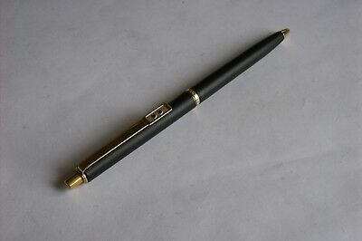 Vintage Matte Black Papermate  Ballpoint Pen With Gold Trim Paper Mate