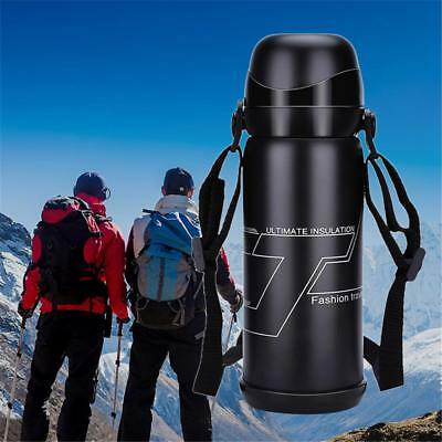 Travel Thermos Cup 800ML Stainless Steel Double Vacuum Coffee Flask Water Bottle