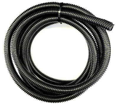10ft Black Split Loom 5/8'' Diameter, 10 feet 5/8'' Flexible Convoluted Tubing