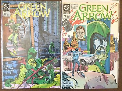 "Green Arrow #19 & 20   (DC 1989)  ""Trial of Oliver Queen Part 1-2""  Grell  VF"