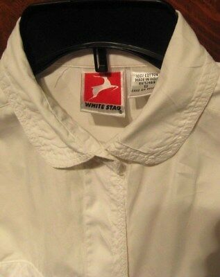 REDUCED AGAIN!! women's classic long-sleeved blouse white, sz M WHITE STAG