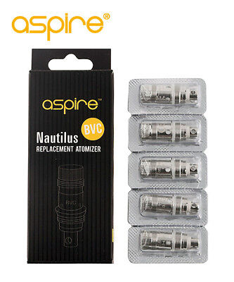 Replacement Aspire Nautilus BVC Coils Pack Of 5 Coil Resistance Filter
