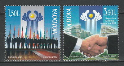 Moldova 2002 Commonwealth of Independent States 2 MNH stamps