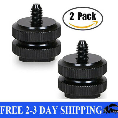"Camera Hot Shoe Mount to 1/4""-20 Tripod Screw Adapter,Flash Shoe Mount for DSLR"