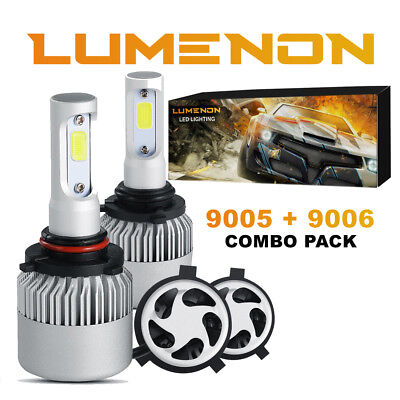 Lumenon 9005 9006 Combo LED Headlight Kit Low High Beam 6000K 180W 8000LM Light
