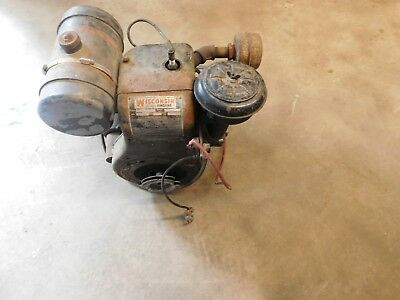 Vintage Wisconsin Aenld Heavy Duty Air Cooled Engine Motor ****runs*****