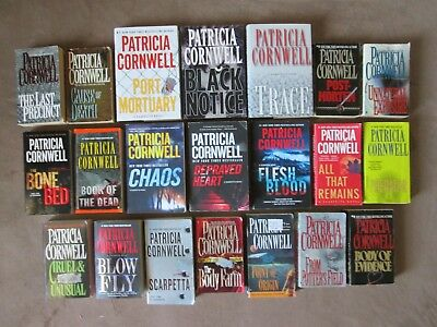 Lot of 21 PATRICIA CORNWELL Thriller Books, All are the KAY SCARPETTA Series