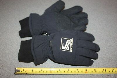 Scott USA Black Warm WINTER GLOVES Ski Snow Board Size small fleece lined (#2)