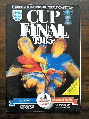 F.A. Cup Final 1985 Everton v Manchester United. 18th May