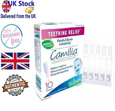 Camilia Boiron Teething Relief, 10 liquid unit-doses . - UK STOCK!