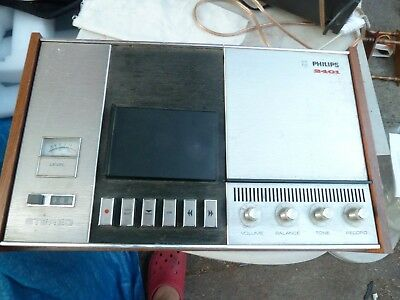 vintage philips 2401  Cassette Tape Deck Faulty