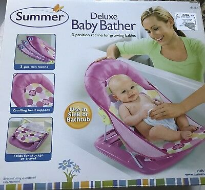 Summer~ Infant Deluxe Baby Bather, Triangle Folding Bath Sling New Sealed!