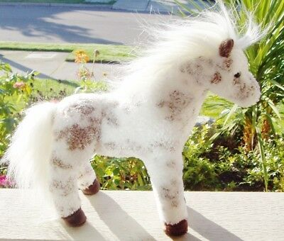 New Douglas Official Cavalia White & Brown Plush Appoloosa Horse Chocolate Chips