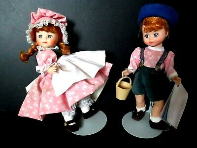 VTG.MME ALEXANDER DOLLS-JACK AND JILL-TOGETHER AGAIN-tags & boxes-#455 &456
