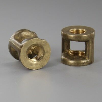 "1/8 IPS x 1/8 IPS SOLID Brass Hickey ~ 3/4"" Tall ~ Lamp Repair Parts ~ #YB04"