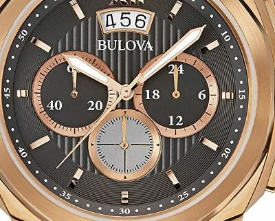 Bulova Classic Dress Men's Quartz Watch Black Dial Chronograph 97B136