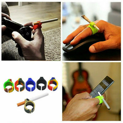 1pcs Finger Hand Rack Cigarette Weeds Joint Holder Ring Silicone New
