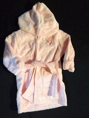 First Impressions Bath Robe Baby Girl 0-9 Months Pink (Twins)