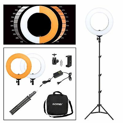 14 inches 5500K LED Ring Photography LED Light Stepless Dimmable Anchor Video