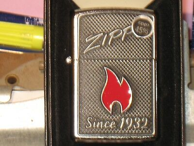 NEW Windproof Genuine Lighter Zippo 03082  Flame Since 1932 Emblem Street Chrome